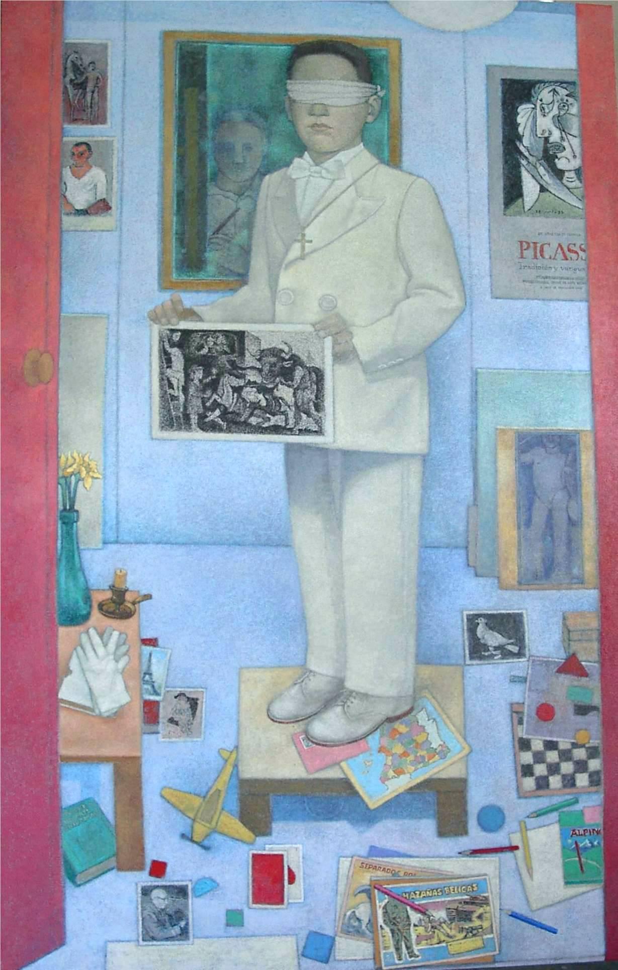 El arte de la memoria, homenaje a Picasso, 2006, Acrílico sobre lienzo, 162×97 cm.